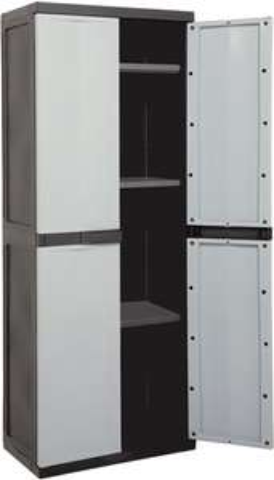 Armoire résine pour garage ou atelier (65 x P 37 x H 165 cm)