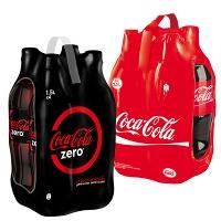 2 packs Cola-Cola et Coca-Cola Zero  (= 8 bouteilles) de 1.5L