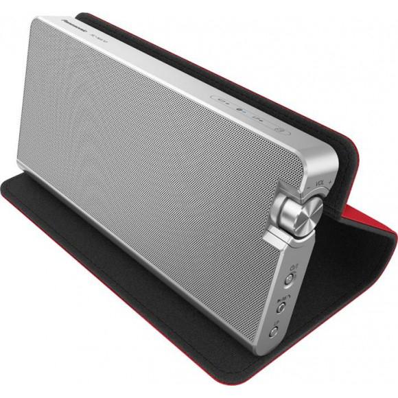 Enceinte bluetooth Panasonic SCNA 10 EGR  10W  Silver / Rouge