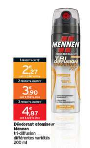 Trois déodorants Mennen Tri-diffusion