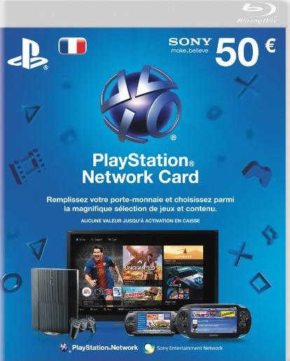Playstation Network Card d'une valeur de 50€