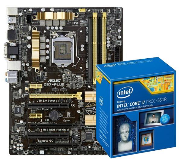 Carte mère Asus Z87 Plus + Processeur Intel Core i7 4770K (après ODRs de 10 + 20 + 25€)