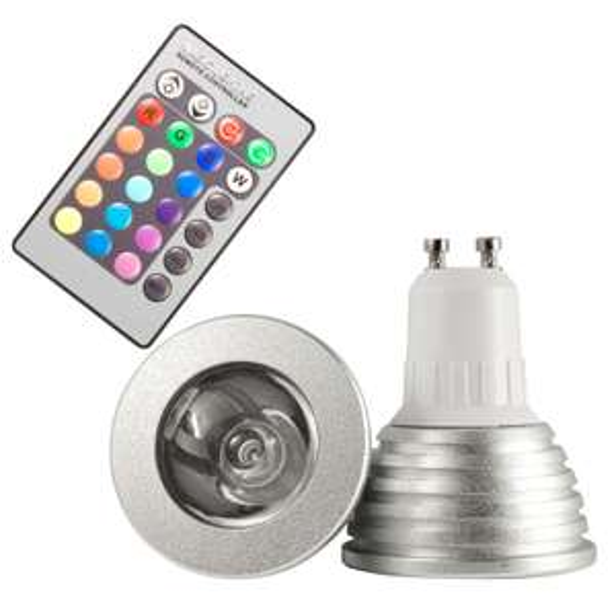 Ampoule 3W GU10 avec 16 changement de couleur à LED RVB + télécommande