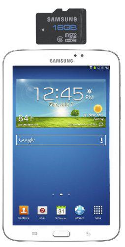 "Tablette Samsung Galaxy Tab 3 - 7"" 8 Go Android Wi-Fi Blanc + Carte Micro SD Samsung 16 Go"