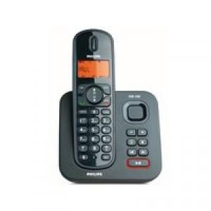 Téléphone fixe-répondeur Philips CD1551B, Noir - Reconditionné