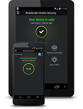 Antivirus Bitdefender Mobile Security offert pendant 6 mois