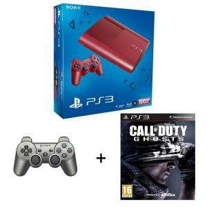 Console Sony PS3 500 Go Rouge + 2 manettes + Call Of Duty Ghosts