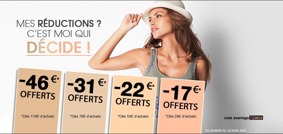17€ de réduction pour 29€ d'achat