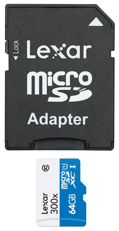 Carte Mémoire Lexar Micro SDXC Classe 10 64 Go + Adaptateur SD