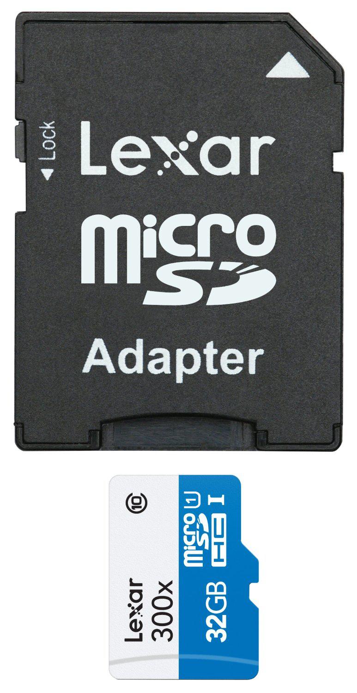 Carte Mémoire Lexar Micro SDHC Classe 10 32 Go + Adaptateur SD