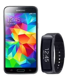 Smartphone Samsung Galaxy S5 + Montre Samsung Galaxy Gear Fit (Avec forfait sans engagement RED)