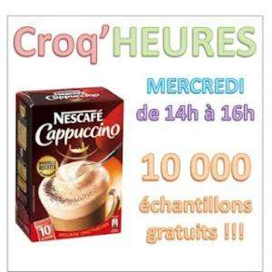 13 000 échantillons gratuits NESCAFÉ Cappuccino