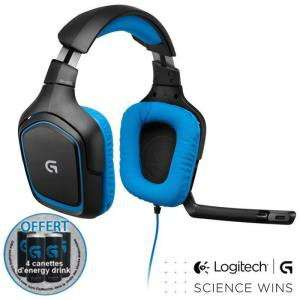 Casque gaming surround Logitech G430 filaire