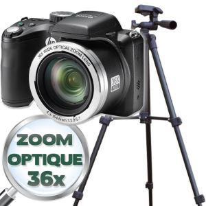 Appareil photo bridge HP D3500 (Zoom optique  x36) + Trépied