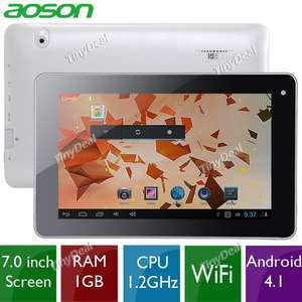 "Tablette Aoson 7"" - Android 4.1 - 1024x600 - 8 go -  RAM 1 go - Quad-core - Wifi"