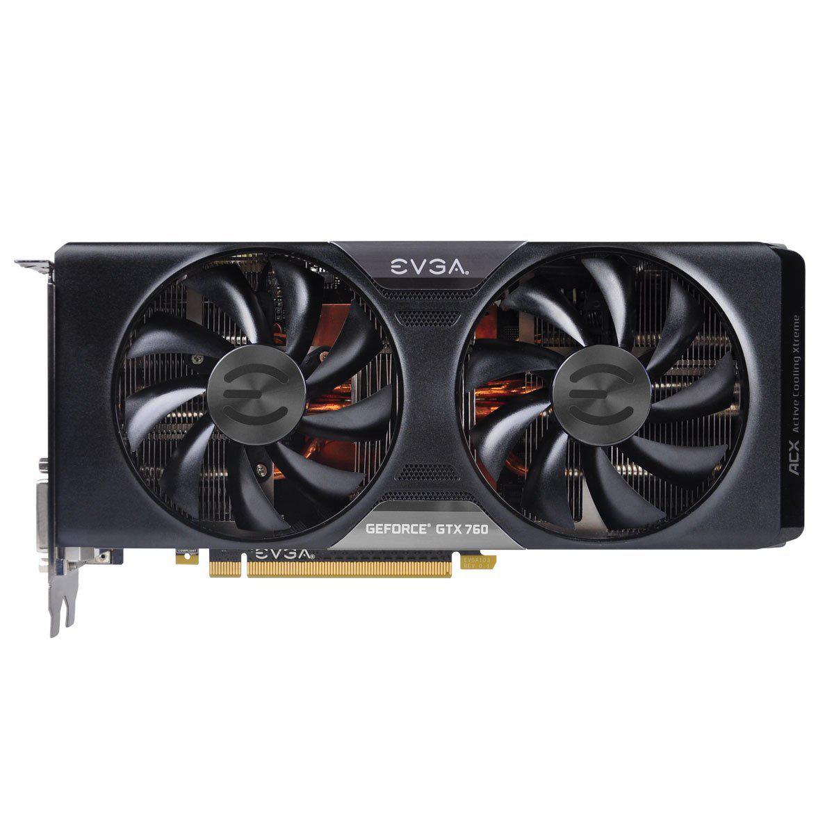 Carte graphique EVGA GeForce GTX 760 Dual ACX Cooler 4 Go