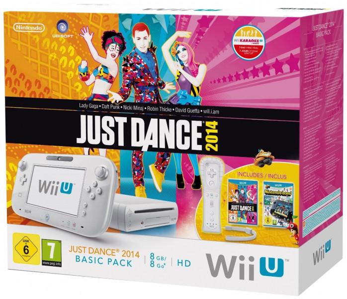 Pack : console Wii U blanche avec 8 Go + Just Dance 2014 + Nintendo Land + Donkey Kong