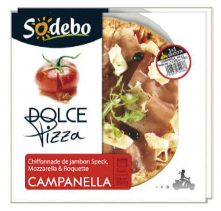 """Lot de 2 Pizzas Sodebo """"Dolce pizza campanella"""""""