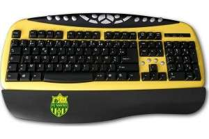 Clavier sans fil MAD-X FC Nantes multimedia USB ou PS2