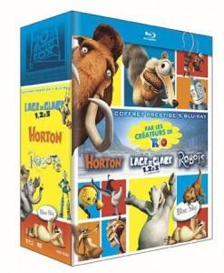 Coffret 5 Blu-rays + 1 DVD Bonus : Trilogie Age de Glace + Horton + Robots