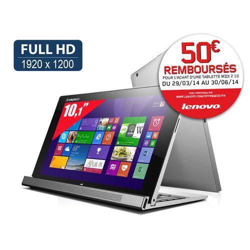 "Tablette Tactile 10"" Lenovo Miix 2 - Full HD - Intel Atom Z3740 (avec ODR de 50€)"