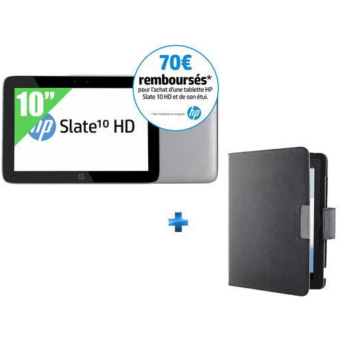 Tablette 10'' HP Slate HD - 1280 x 800 HD IPS - 16 Go - ARM Dual Core A9 - 1Go de ram - Android 4.2 + Étui (avec ODR 70€)