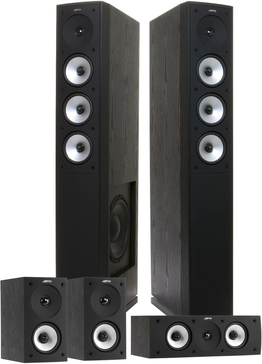 Pack d'enceintes colonnes 5.0 Jamo S628 HCS - Noir