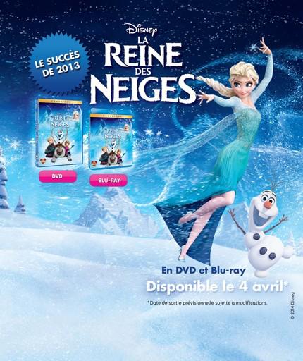 La reine des neiges en DVD (7€ sur la carte)
