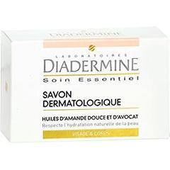 Savon dermatologique Diadermine visage et corps Soin Essentiel ou Savon crème surgras, peaux sèches gratuit (+gain de 0,4€)
