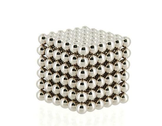 Cube magnétique de 216 billes en néodyme - 3mm