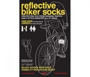 SUCK UK Reflective cycling socks - Chaussettes réfléchissantes pour vélo