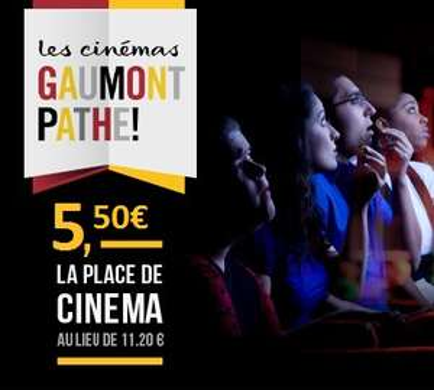 Une place de cinéma (Cumulable avec Cineday)