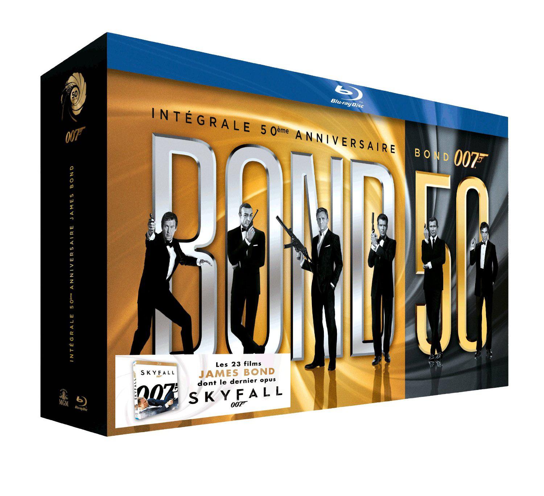 Coffret Blu-ray James Bond 007 - Bond 50 : Intégrale 50ème Anniversaire des 23 films