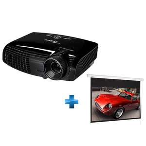 Pack Optoma : Vidéoprojecteur HD131XE DLP Full 3D - 2500 ANSI lumens - Full HD 1080p + Ecran de projection manuel enroulable 16/9 - 213 x 149cm