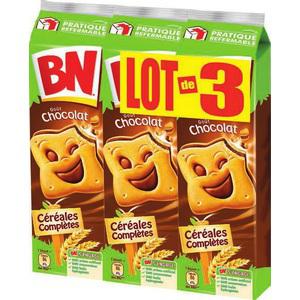 3 paquets de biscuits BN Chocolat