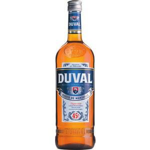 Bouteille de pastis Duval  1L