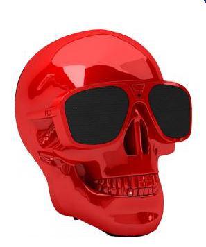Enceinte Bluetooth rouge chromée AeroSkull XS Jean-Michel Jarre