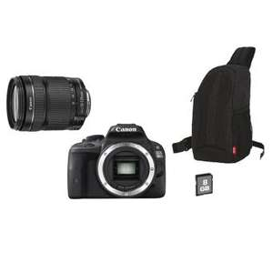 Pack : Reflex Canon EOS 100D + Objectif Canon EF-S IS STM 18-135 mm f/3.5 - 5.6 + Sac + Carte SDHC 8 Go