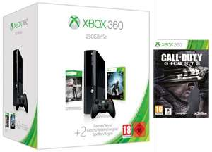 Pack Console Xbox 360 250Go + 3 jeux (Halo 4 + Tomb Raider + Call Of Duty Ghosts)