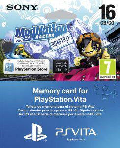 Carte Mémoire PS Vita 16 Go + Jeu Modnation Racers (dématérialisé)