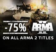 Arma 2 et ses DLC à -75% sur PC (Steam) - Jeu en édition complète à 7.5€ et simple