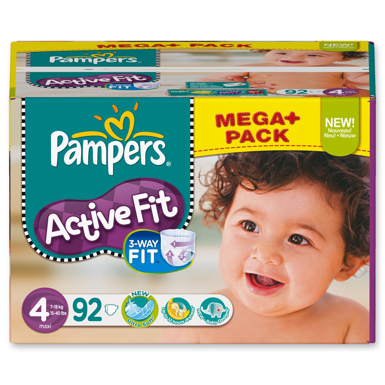 Couches Pampers Active Fit Mega-Pack (50% sur carte fidélité) - Différentes tailles