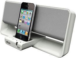 Station d'accueil Eltax MYM iPod/iPhone - 2 x 4W - Entrée auxiliaire - Noir