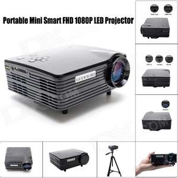 Vidéo projecteur portable Geekwire LP-5B (HDMI,VAG,USB 2.0, AV, SD)