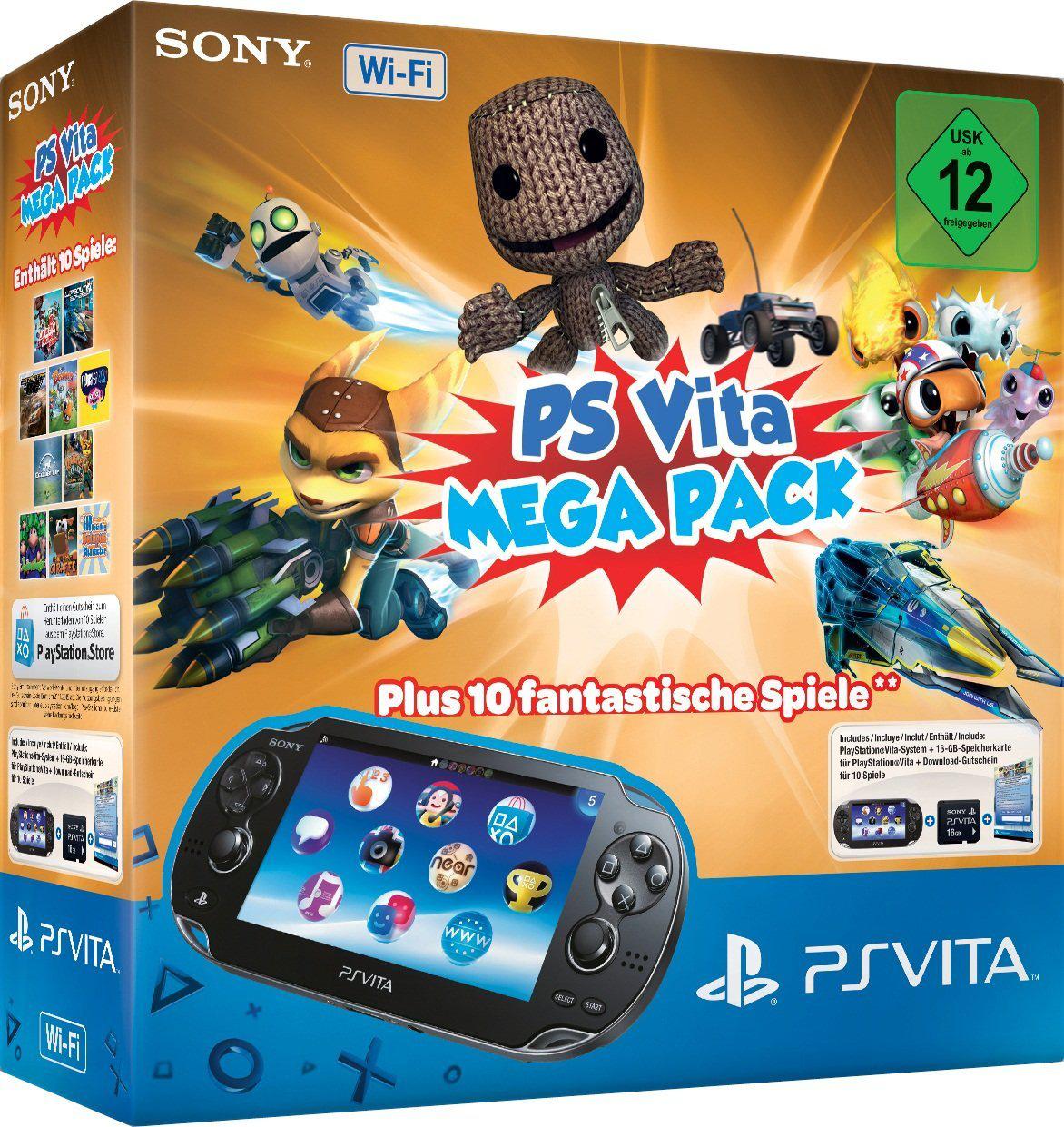 Console Sony PS Vita Wi-Fi Mega Pack (10 jeux) + Carte mémoire 16Go