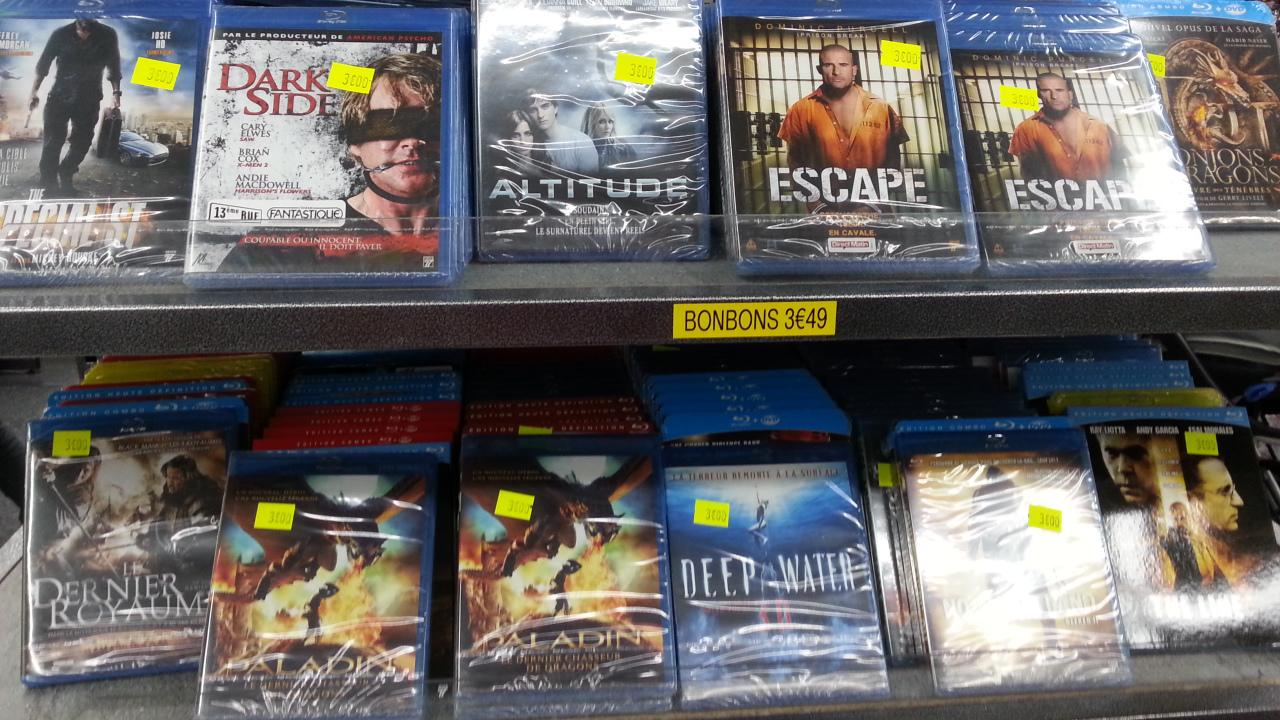 Sélection de Blu-rays (dont certains au format 3D)