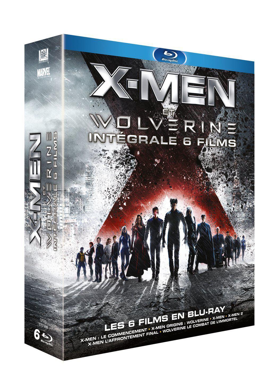 Coffret 6 Blu-ray Intégrale X-Men et Wolverine