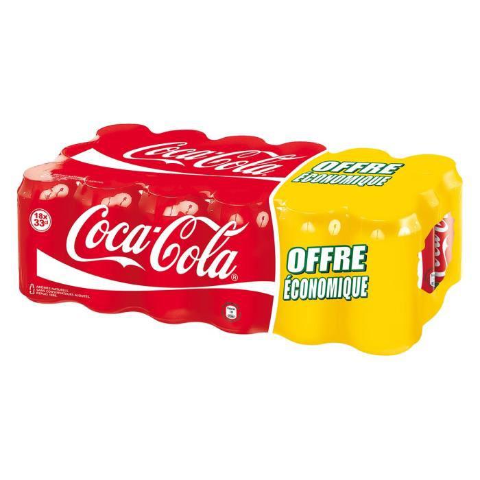 90 canettes Coca Cola 33cl