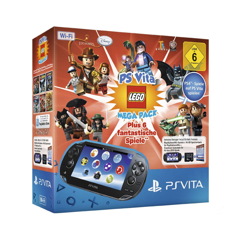 Console Sony PS Vita WiFi + Mega Pack Lego (6 Jeux) + Carte mémoire 16 Go
