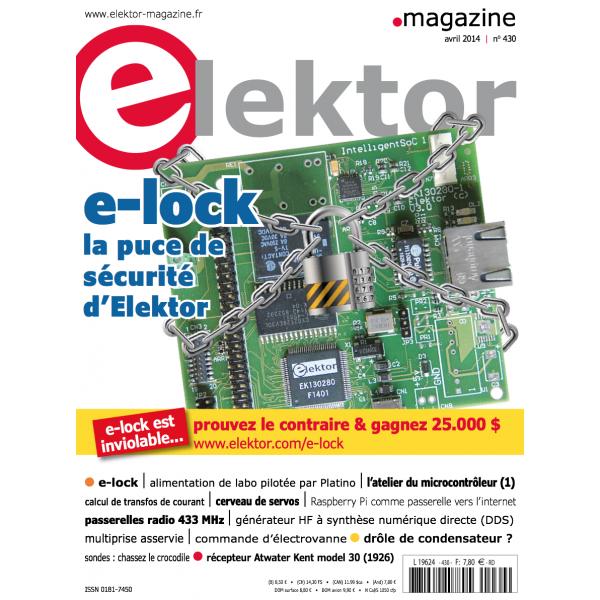 1 an d'abonnement à la version numérique du magazine Elektor
